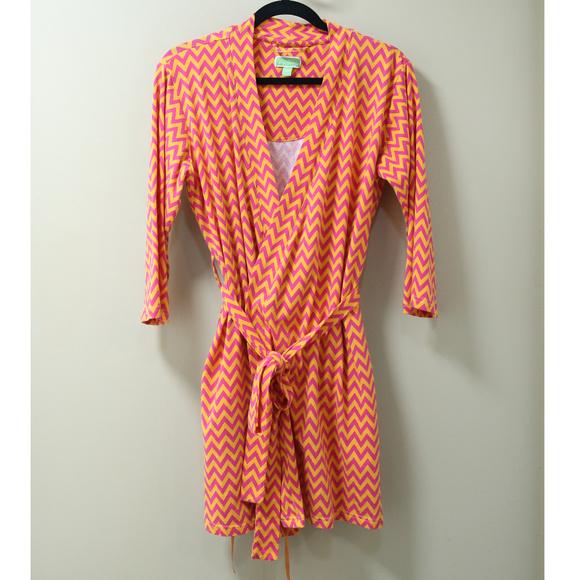 Vera Bradley Other - Vera Brandly Pink & Orange Chevron Robe S/M